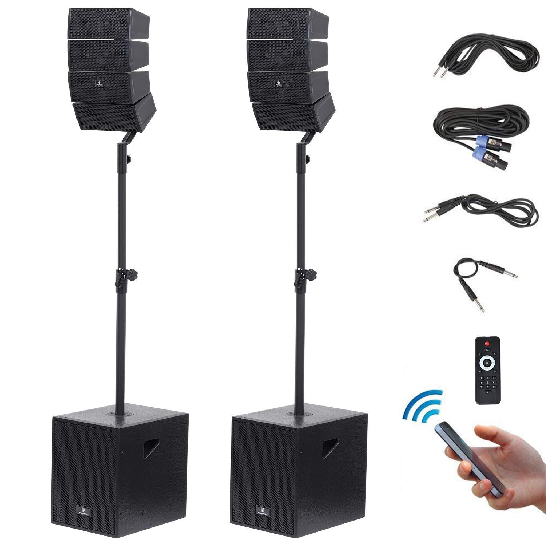 PRORECK Club 3000 12-inch 3000 Watt DJ/Powered PA Speakers